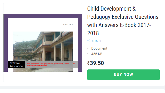 Child Development And Pedagogy Paper I Paper Questions with answers Book